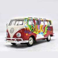 1 24 Advanced Alloy Model Car High Simulation Volkswagen Bus Model Toys Metal Diecasts Collection Toy