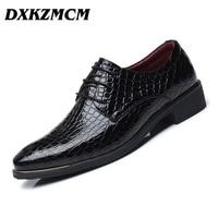 DXKZMCM 2018 Spring Autumn Men Formal Wedding Shoes Luxury Men Business Dress Shoes Men Oxfords Shoes