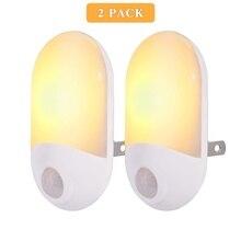 2PCS/4PCS Motion Sensor Light, Emotionlite Plug in Night Lights Warm White LED Motion-Activated Nightlight Hallway Bathroom