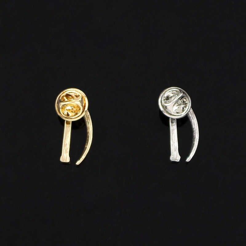 Oro/Argento Colori Laringoscopio Spille Medico Dipartimento Gioielli per il Medico/Infermiere/Terapeuta Spille Quotidiano Trova Scienza Dei Monili