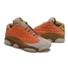 the latest c9e5f 2f3fa Jordan 13 bajos nuevos zapatos de baloncesto al aire libre Atlético  zapatilla de deporte Logotipo de oro venta caliente