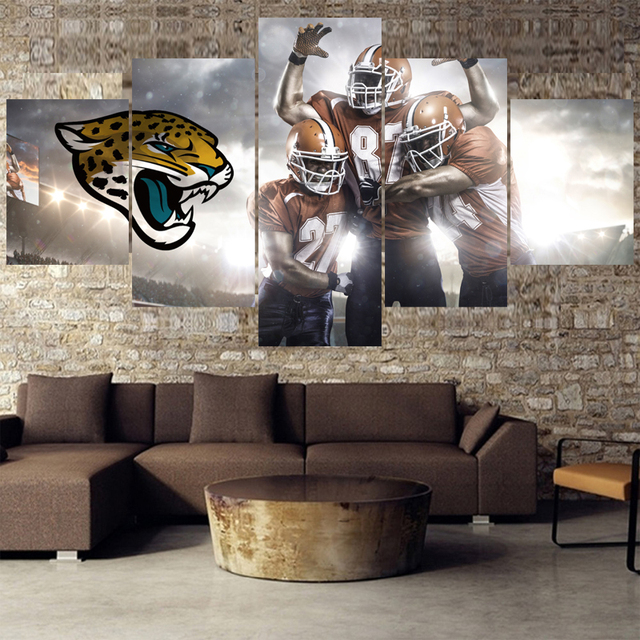 8132bbee US $6.48 19% OFF|Football Team Paintings Jacksonville Jaguars Modern Home  Decor Living Room Bedroom Wall Art Canvas Print Painting Calligraphy-in ...