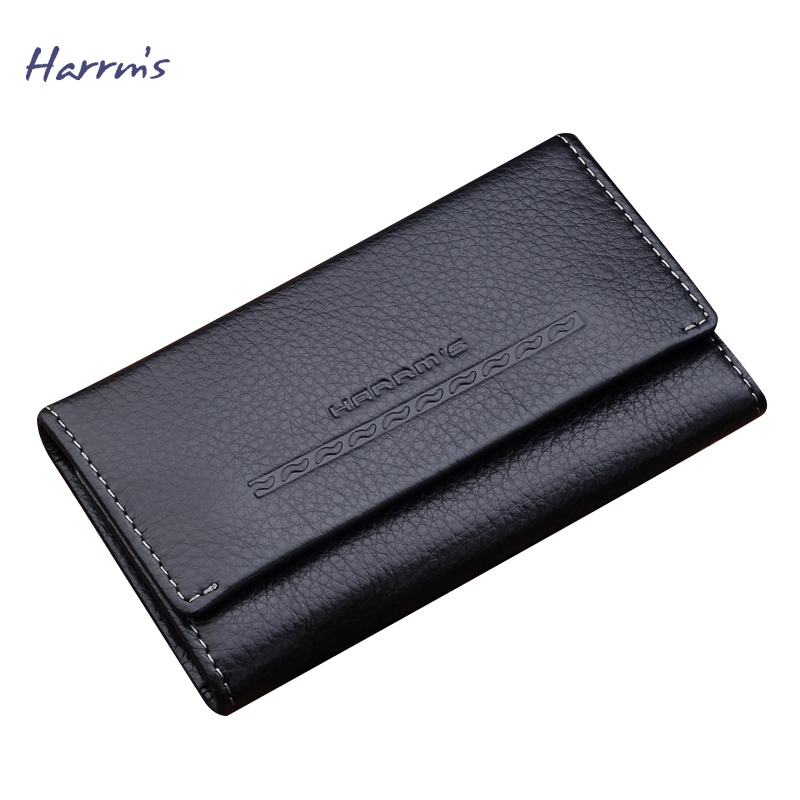 Harrm s Famous Brand Key Holder Steering wheel Key Chain KeysMart Leather Key Wallet Fashion Porte