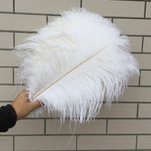 Free shipping /Long 40-45cm 16-18 fluffy natural ostrich plumes stablecenterpiece,wedding centerpieces black white for sale50pcs