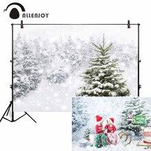 Allenjoy фотография Фон зима год боке Рождественская елка украшения снег фон фотосессия Фотофон