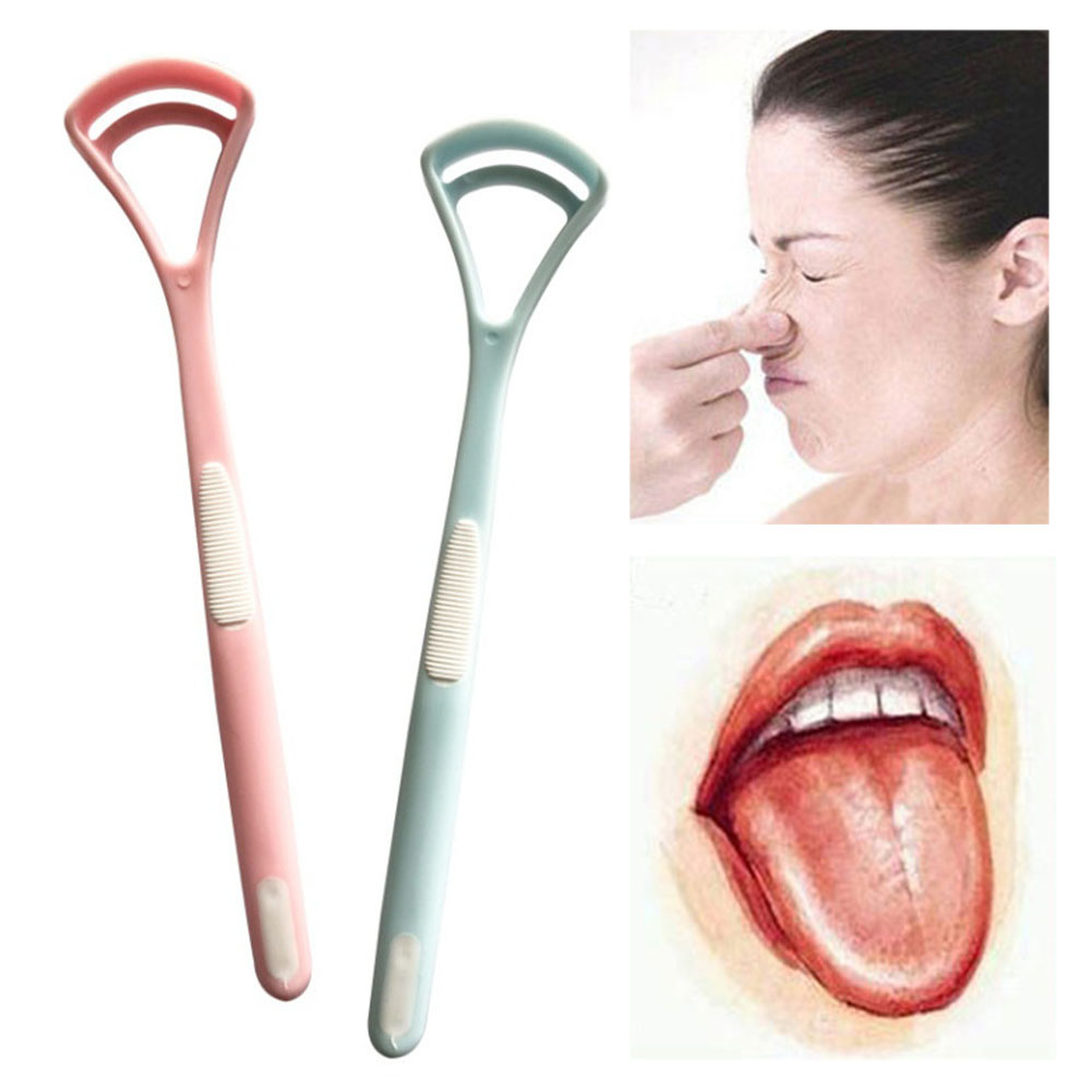 2Pcs Tongue Brush Tongue Cleaner Scraper Cleaning Non-slip Tongue Scraper For Oral Care Keep Fresh BreathTongue Clean Tool