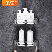 BVZ  Bathroom Shelf stainless steel bathroom Accessories shower basket corner Shelves  Kitchen storage Bath Shampoo Holder wall mounted 304 stainless steel bathroom soap dish triple tier bath shower shelf bath shampoo holder basket holder corner shelf
