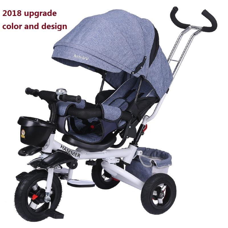Léger pliant enfant Tricycle chariot bébé vélo infantile poussette costume le plus achalandé pour le mois 6 à l'âge 3