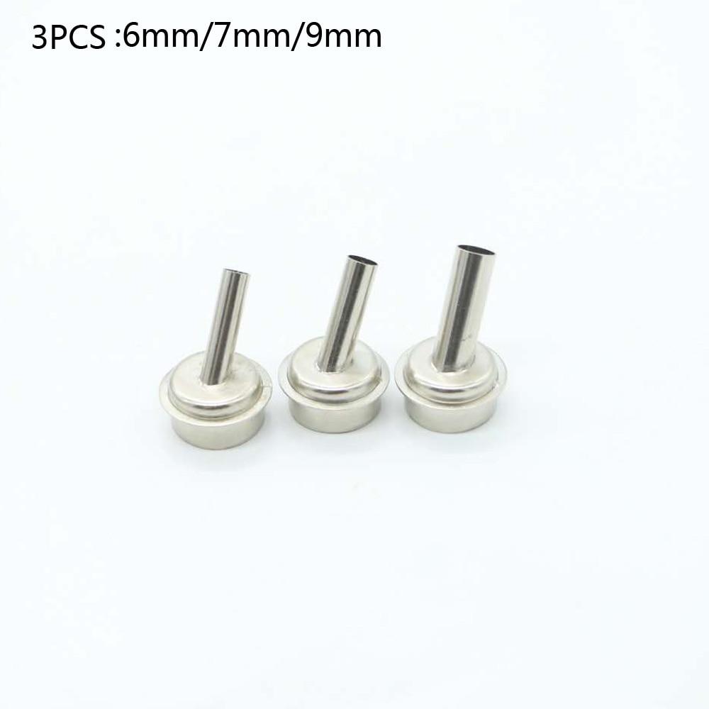 3pcs Air Gun Head For Microscope A8 A9 CPU Blade Fly Line 45 Degrees Air Gun Nozzle For Quick 861DW TR1300A