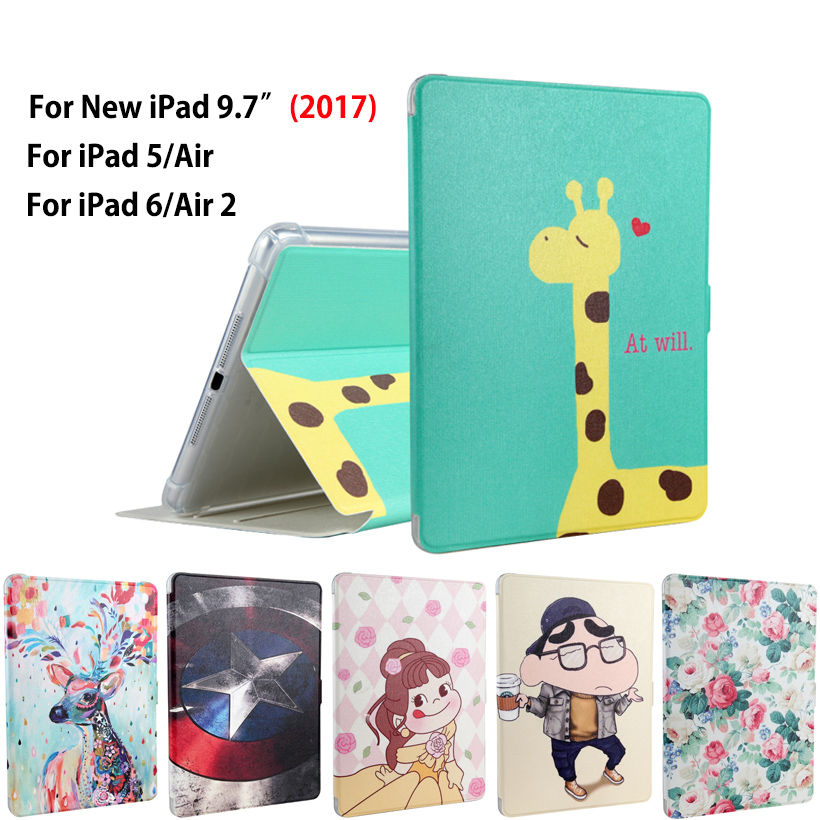 Fashion Tablet Funda Case For New iPad 9.7 2017 A1822 Cover For ipad air 1 2 iPad 5 6 Shockproof Slim Soft TPU Protective Case 2017 silicon slim soft tablet case for ipad air 1 rubble protective funda cover for apple ipad air 1 2 for ipad 5 6 case capa