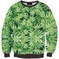 Горячая мужчина женщины толстовка Зеленые Листья распечатать 3D galaxy толстовка толстовка улица хип-хоп на открытом воздухе Черный пот Весна пуловер