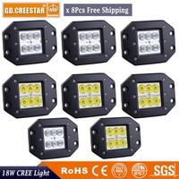 18W 5Inch 1450LM LED Work Light Off Road 4X4 4WD SUV ATV UTV Driving Light 8pcs