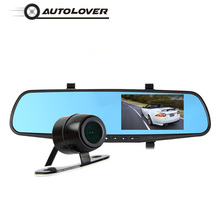 AUTOLOVER RM-LC2010 4.3-Inch Car DVR 1080P Full HD Dash Cam With Rearview Mirror Design 170 Degree Lens Driving Recorder