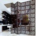 Entranceway Hanging Wooden carved Cutout Carving room divider partition wall biombo room Dividers Partitions 29cmx29cm