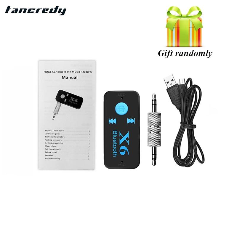 2016 Newest Handsfree Car Bluetooth Music Receiver Universal 3 5mm Jack A2dp Plastic Bluetooth: Tancredy 3.5mm Jack 4.1 Aux Bluetooth Handsfree Car Kit TF Card A2DP Mp3 Music Receiver USB