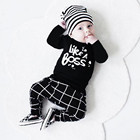 Toddler Newborn Baby Boy Clothes Summer Lettering Printed Long Sleeve T-shirt Tops+ Pants Set carters baby boy erkek bebek giyim