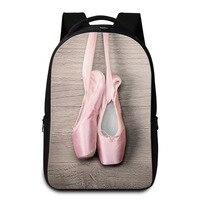Dispalang Sapato Ballet Impressão Mochila Laptop Para As Mulheres Meninas Multifuncional Oxford School Bolsas Mochila Crianças Saco de Viagem Ocasional