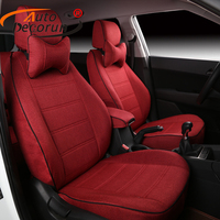 Customized Linen Fabric Seat Cushion For Mercedes Benz G55 Accessories Car Seat Covers Sets For Cars