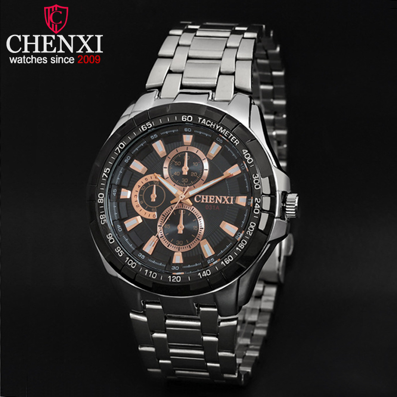 CHENXI Brand Rose Gold Men Watches Fashion Male Wristwatch Quartz Luxury Casual Clocks Stainless Steel Analog Male Watch Relogio brand oulm 9316b japan movt big face watches men triple time rose gold luxury analog digital casual watch relogio male original