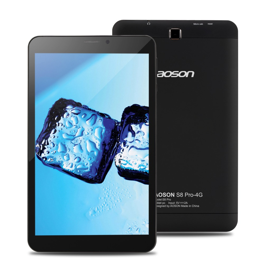 New Aoson S8 Pro 4G Phone Call Tablet 8 inch IPS Android 6.0 MTK8735B 16GB ROM 1GB RAM SIM GPS 800*1280 WIFI Tablets PC 10 lnmbbs tablet 10 1 android 5 1 tablets with cases 1280 800 pixel wifi 802 11 b g wifi 3g wcdma 2100 mhz 1gb ram 16gb rom 8 core