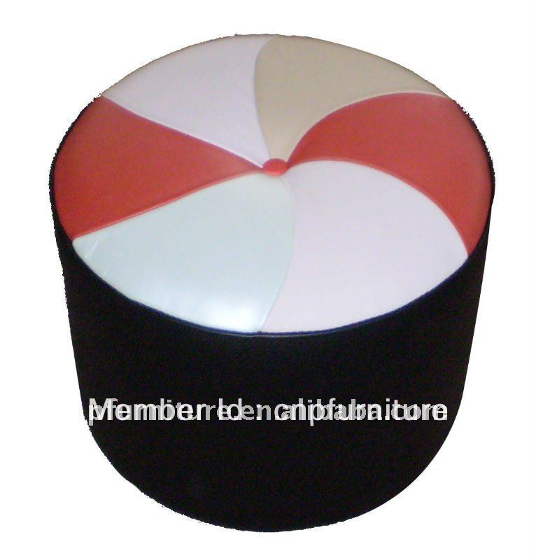 Marquetry Leather Round Stool PFC153 For US Market In