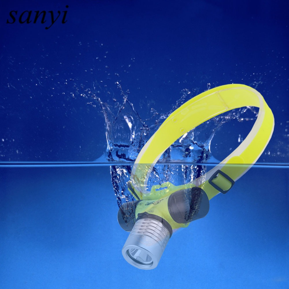 20M Underwater Diving Lights Lighting Headlights 1000 LM XPE Led Dive Headlamp 3 Modes W ...