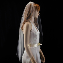 Лидер продаж высокое качество тюль с Свадебные вуали с каймой с расческой Белый Кот один ярусов свадебная вуаль свадебные аксессуары вэу-де-noiva