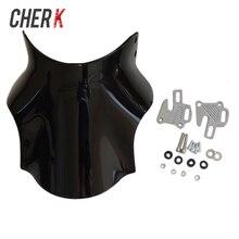 Cherk オートバイブラック風防ホンダ Hornet CB400 CB600 CB750 CB900 CB919 CB250 CB 400 600 750 900 919 250