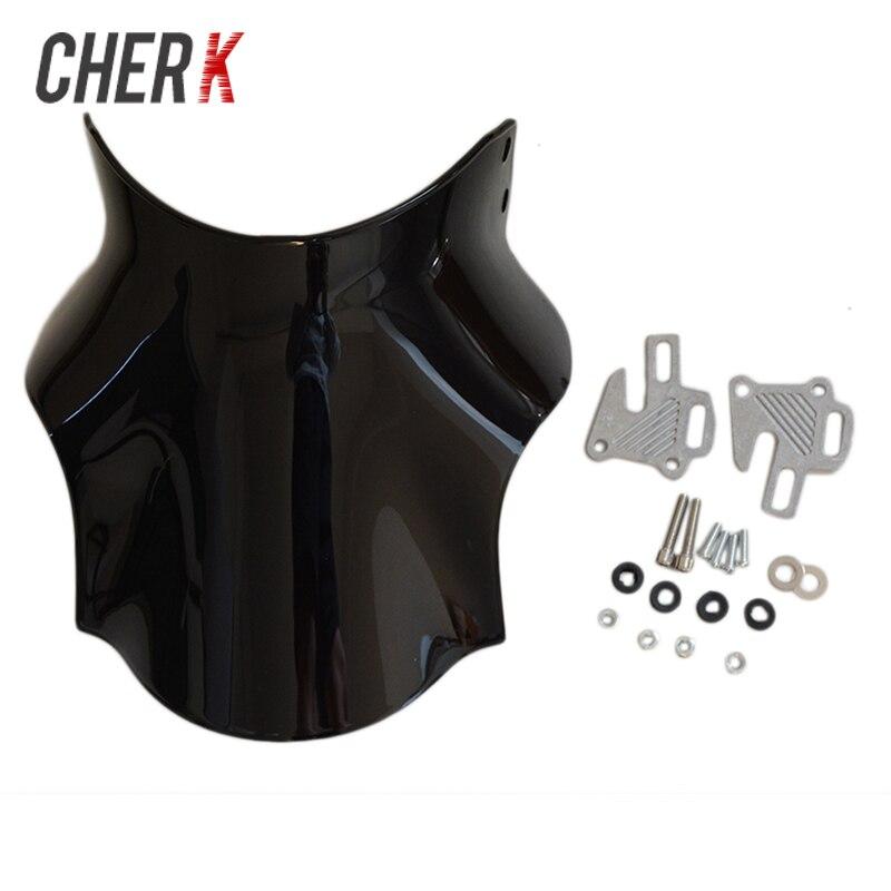 Cherk Moto Noir Pare-Brise Pare-Brise Pour Honda Hornet CB400 CB600 CB750 CB900 CB919 CB250 CB 400 600 750 900 919 250
