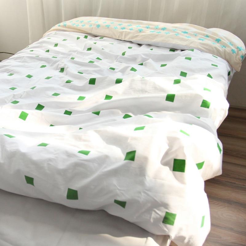 100 cotton duvet cover fabric colourful single twin double queen king size housse de couette. Black Bedroom Furniture Sets. Home Design Ideas
