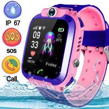 Q12 niño reloj inteligente LBS localizador SOS llamada ubicación buscador rastreador Anti pérdida Monitor niños reloj inteligente para IOS android