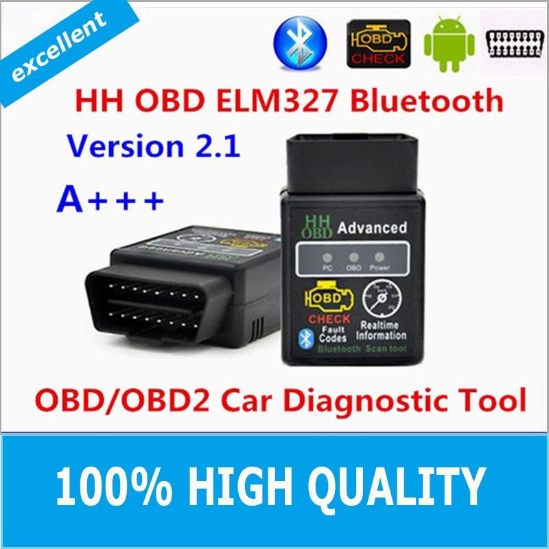 Hot 2016 Best Quality Hot Auto font b Car b font ELM327 HH Bluetooth OBD 2