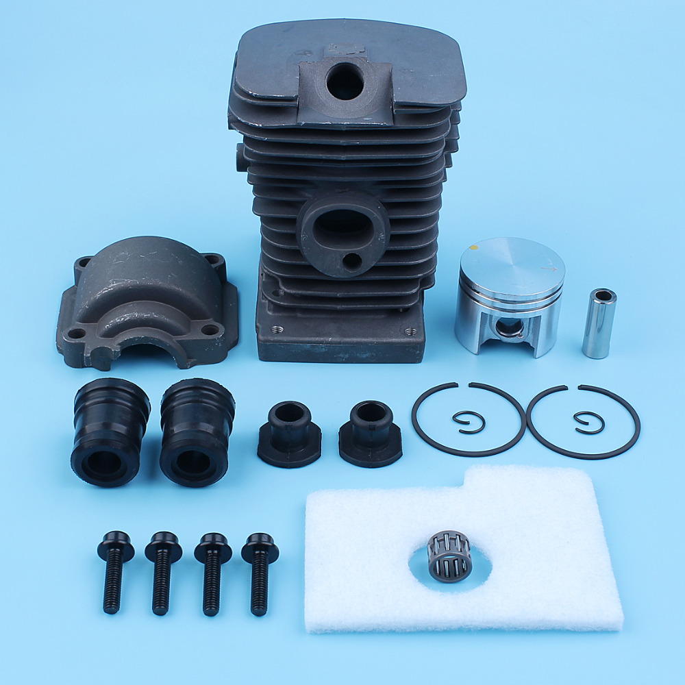 38mm Nikasil Plated Cylinder Piston Engine Pan Kit For Stihl 018 MS180 MS 180 Chainsaw AV Buffer Set Needle Bearing Air Filter бензопила stihl ms 180 14