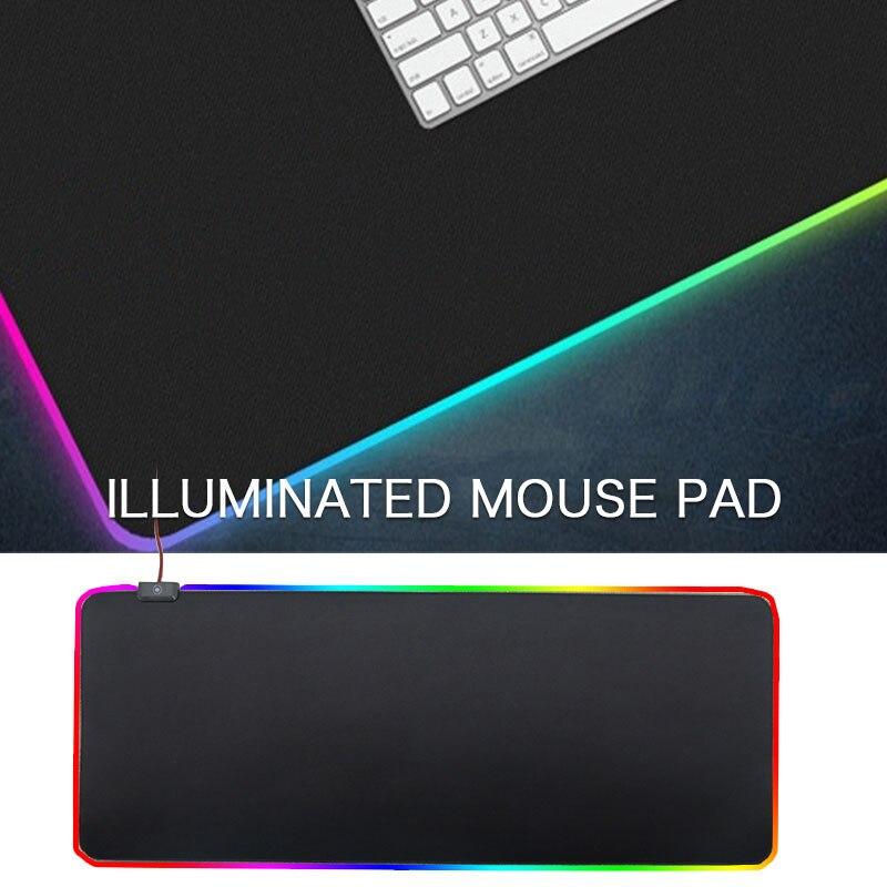 Tapis souris PVC tapis de souris RGB tapis de souris Gaming Extra Large coussin lumineux tapis de souris très grand tapis de souris