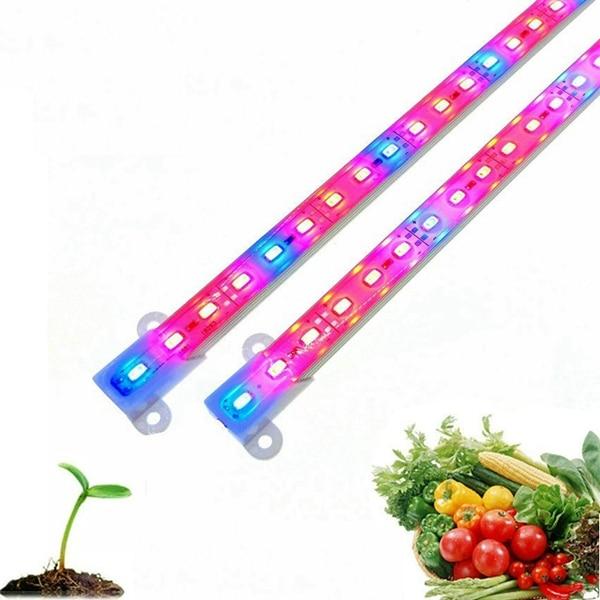 Jiguoor Plant Lights DC12V 6W 50cm 5630 SMD Red: Blue 3:1/5:1 Grow Rigid Strip Non-waterproof Plant Greenhouse Light