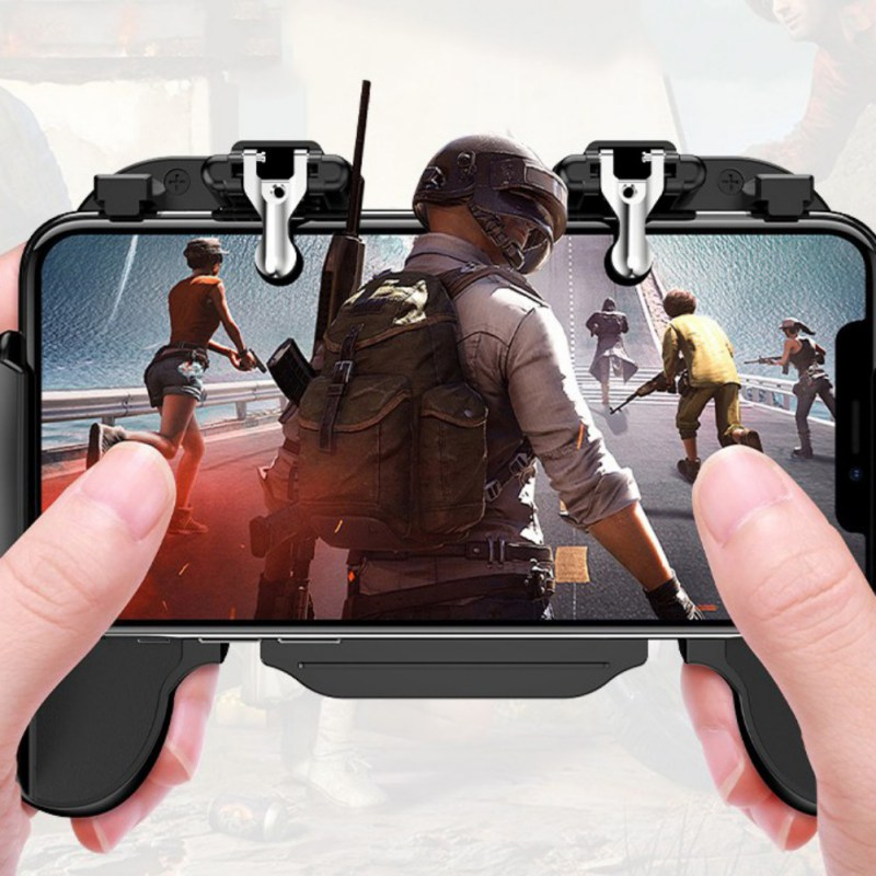 H5II Cooling Fan Gamepad Joystick Mobile Phone PUBG Game Gamepad For iPhone Samsung HuaWei Xiaomi OnePlus Smartphones TI