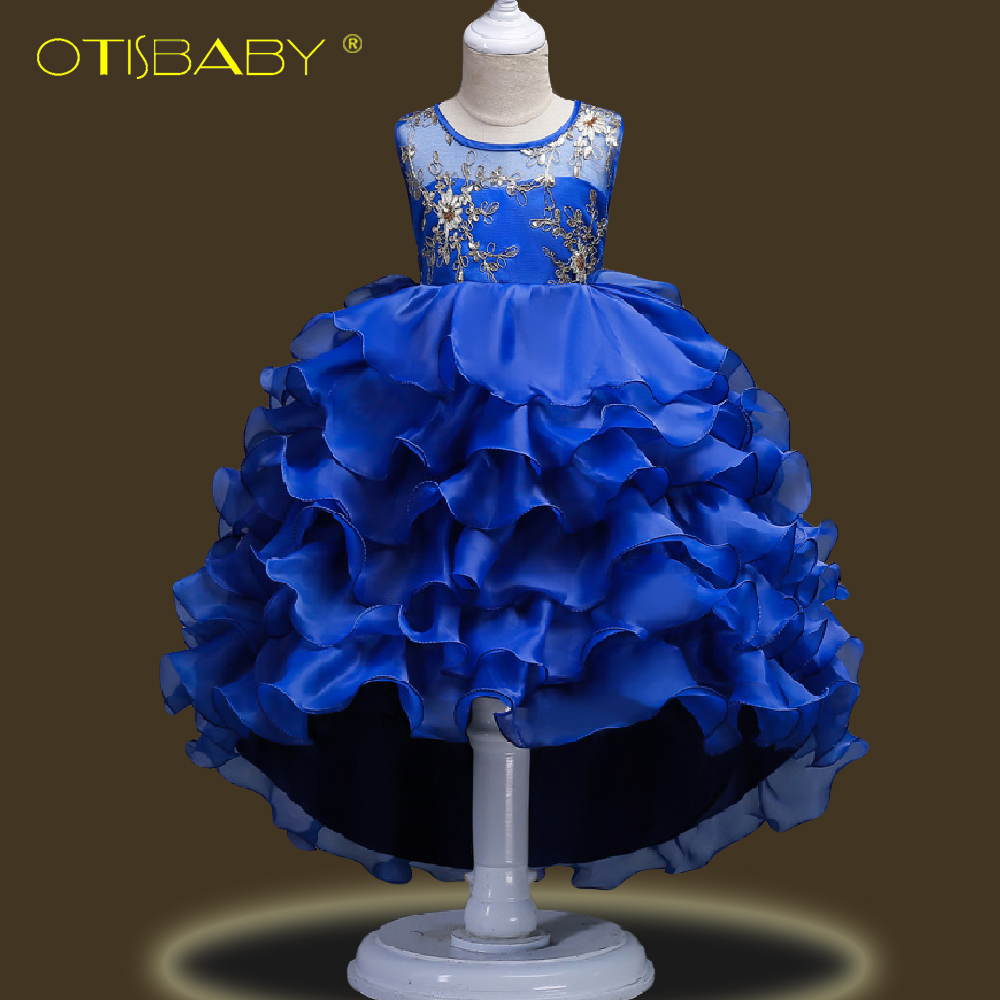 Image 3 - Fancy Children Elegant Dresses for Girls Teenagers Clothing Party Ball Gown Christening Layered Tutu Tulle Dress Peacock Costume-in Dresses from Mother & Kids