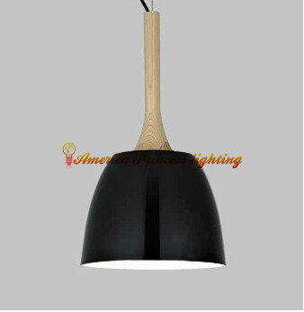 Modern fashion simple circular wooden handle aluminum cover pendant lamp,iron chandelier,  E27 AC110-240V modern fashion simple circular wooden handle aluminum lid chandelier made of iron painting diameter 50cm ac110 240v
