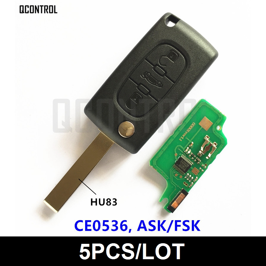 QCONTROL Car Remote Key for PEUGEOT 207 208 307 308 408 Partner Keyless Entry CE0536 ASK