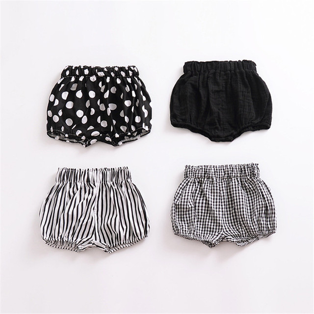 a6b968319 0-6Y Kawaii Newborn Baby Bloomers Shorts PP Pants Cotton Linen Triangle  Solid Polka Dot Striped Baby Girl Shorts Summer Trousers