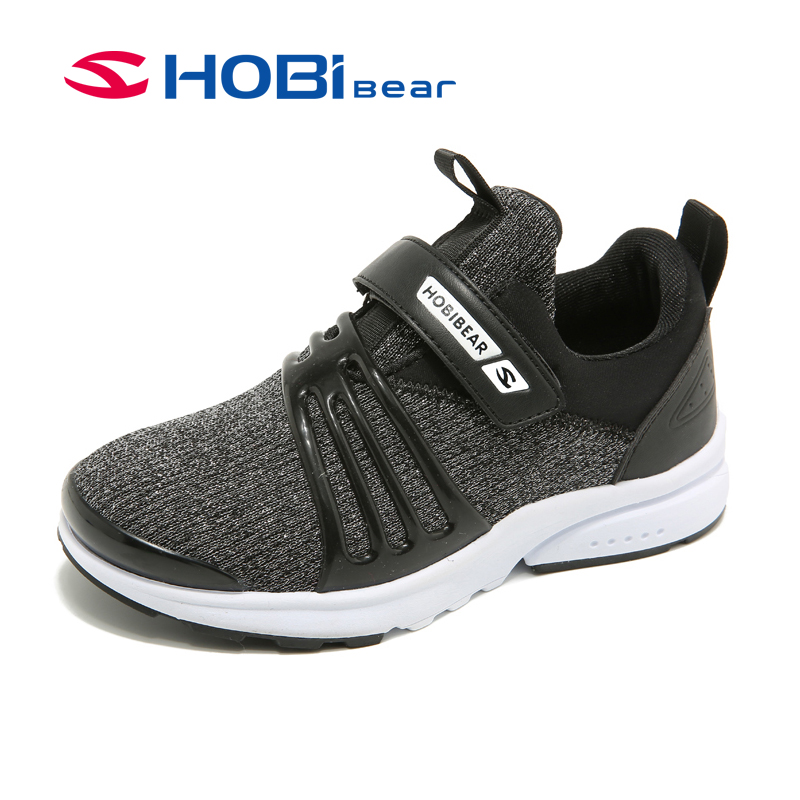 HOBIBEAR Spring Knitted Children Shoes Kids Boys Shoes Casual Toddler Boy Sneakers Leather Sport Fashion Child Breathable Shoe 2016 spring child sport shoes leather boys shoes girls wear resistant casual shoes