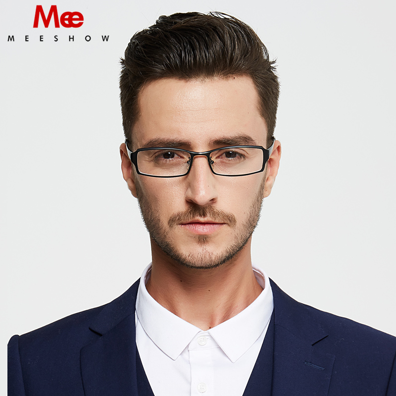 Pure Titanium prescription glasses Men's glasses eyeglasses frames myopia retro glasses black square full rim glasses frame 1108(China)