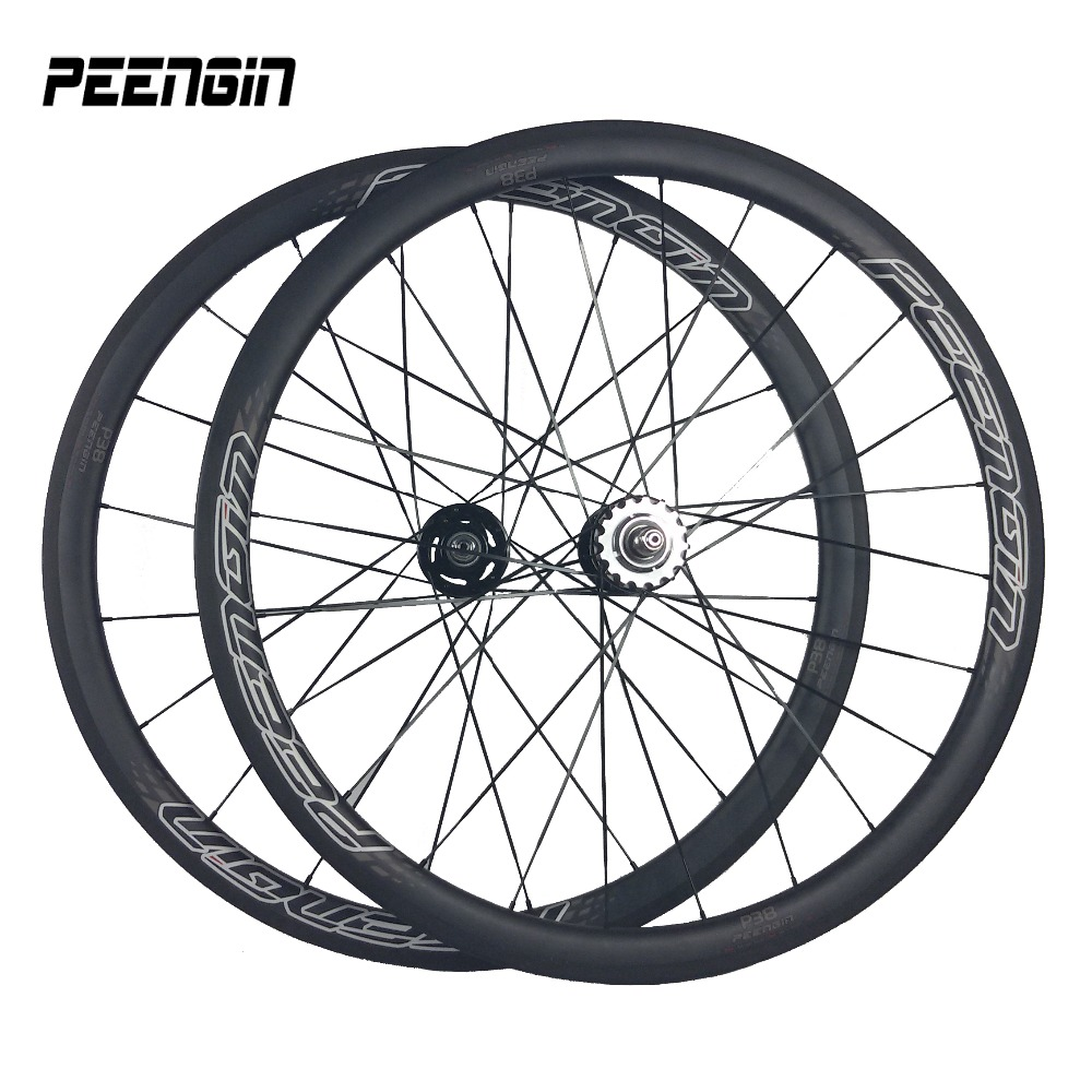 carbon clincher hot wheels track light-bicycle 38mm fixed gear single speed wheelset supply with titanium Skewer+brake pad+valve track carbon wheelset 88mm clincher bike wheels track single speed cycling wheels flip flop fixed gear novatec hubs 700c