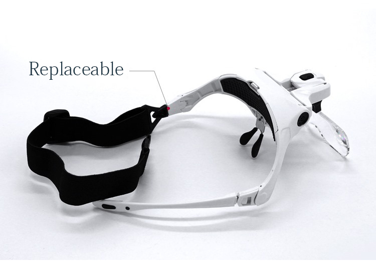 1.0X-3.5X  Headband Magnification Goggles Magnifying Glasses With 2 LED Light For Beauty Tattoo Graft Eyelash Tattoo Accessories