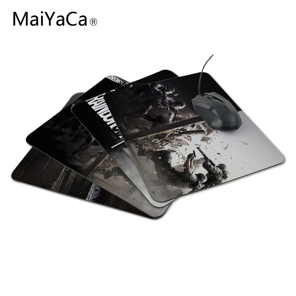 MaiYaCa New Anti-Slip PC Tom Clancy's Rainbow Six Siege silona peles matracis 220mmX180mmx2mm Pad Me Mat Optal