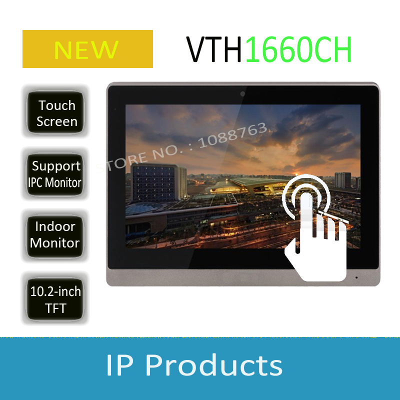 Free Shipping DAHUA 10inches IP Color Indoor Monitor Original English Version without Logo VTH1660CH недорго, оригинальная цена