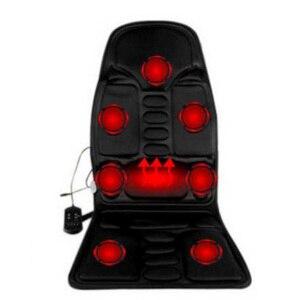 Image 2 - Cojín de masaje de cuerpo completo para coche y oficina, colchón vibrador de calor de 7 motores, silla de masaje para espalda y cuello, asiento de coche relajante de 12V