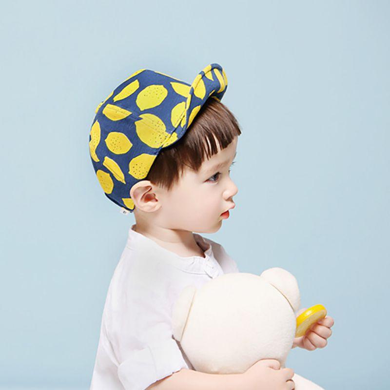 Дети Мода Лимон Печатных Шапки милый ребенок шляпа для Обувь для девочек Обувь для мальчиков с мягкими полями летние шапки