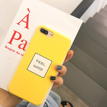SZYHOME Phone Cases for IPhone X 6 6s 7 8 Plus Fitted Orange Color Feel Good Luxury Matte Plastic Mobile Phone Housings Cover