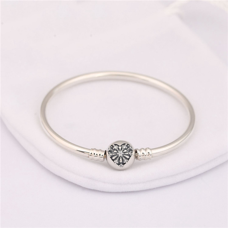 e0598daad 100% Authentic 925 Sterling Silver Bead Charm Bracelet Fit Original You  Melt My Heart Branded Bangle for Women DIY Jewelry Gift-in Bangles from  Jewelry ...